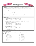 Order of Operations Differentiated Homework (Snowboard Math) 5.OA.A.1