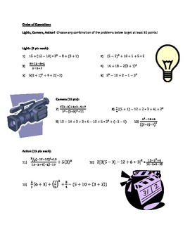 Order of Operations- Differentiated Instruction
