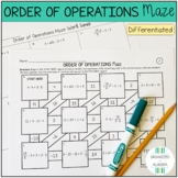 Order of Operations Differentiated Maze Activity