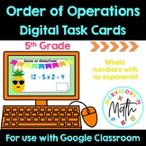 Order of Operations Digital Task Cards for use with Google Classroom