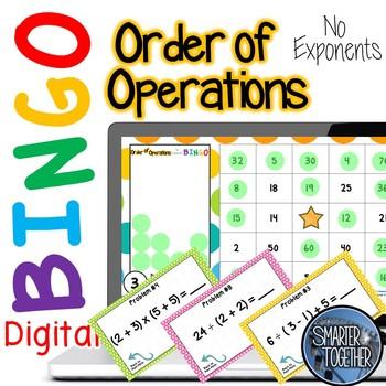 Order of Operations Digital Bingo
