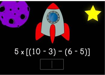 Order of Operations Digital Boom Cards using parenthesis, brackets, and braces