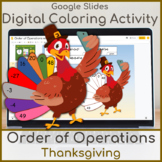 Order of Operations Digital Coloring Activity Thanksgiving