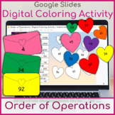 Order of Operations   Digital Coloring Activity   Valentine's Day
