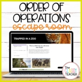 Order of Operations Digital Escape Room: Trapped in a Zoo