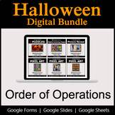 Order of Operations - Digital Halloween Math Bundle