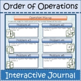Order of Operations Digital Interactive Notebook Distance