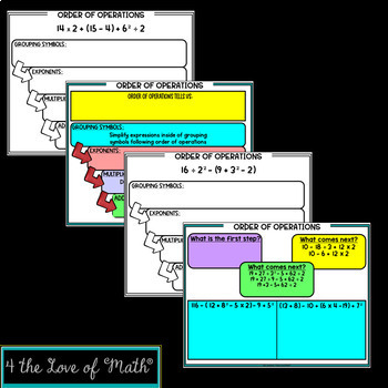 Order of Operations Digital Interactive Notebook Pages