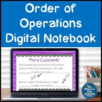 Order of Operations Digital Notebook Activity