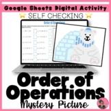 Order of Operations Digital Pixel Art Activity (Winter)