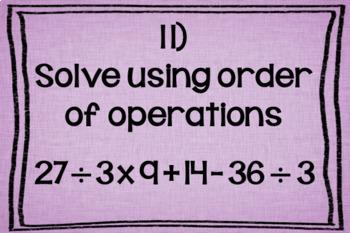 Order of Operations: Digital Task Cards