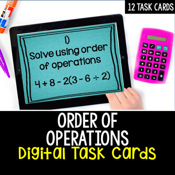 Order of Operations: Digital Task Cards