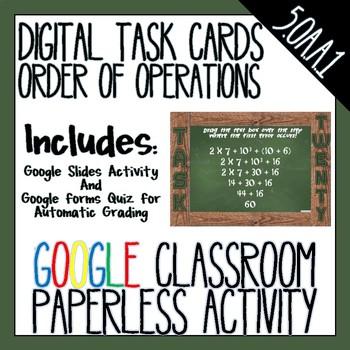 Order of Operations Digital Task Cards 5.OA.1