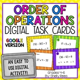 Order of Operations Digital Task Cards Google Version