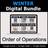 Order of Operations - Digital Winter Math Bundle