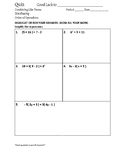Order of Operations, Distributive Property, and Combining Like Terms Quiz