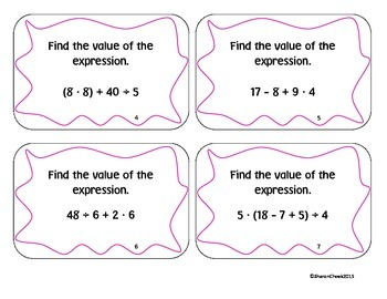 Order of Operations, Distributive Property, etc