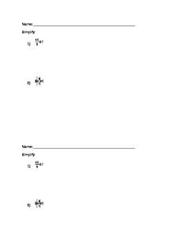 Order of Operations Do Now or Exit Slip EDITABLE