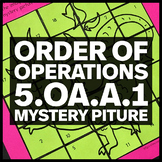 Order of Operations - Dragon Mystery Picture (5.OA.A.1)