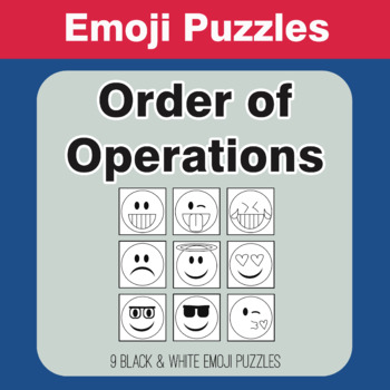 Order of Operations - Emoji Picture Puzzles