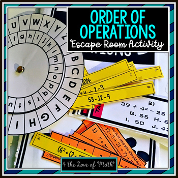Order of Operations Escape Room Themed Activity