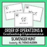 Order of Operations and Evaluating Expressions Scavenger Hunt