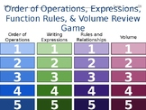 5th Gr. Order of Operations, Expressions, Function Rules a