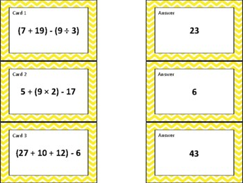 Order of Operations Expressions Task Cards (aligned to TEKS 5.4F & CC 5.OA.1)