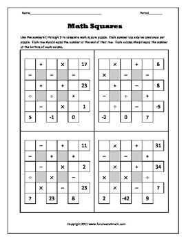 Order of Operations 4:  Extra Challenge (Bundle)