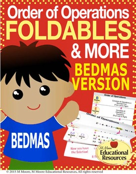 Order of Operations - FOLDABLES & More - BEDMAS Version