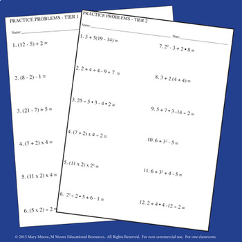 Order of Operations - FOLDABLES & More - PEMDAS Version - Interactive Notebook