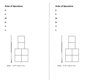 Order of Operations Fill In Notes