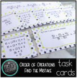 Order of Operations Find the Mistake Cards