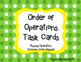 Order of Operations - Determining the Operation