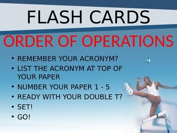 Order of Operations - Flash Cards