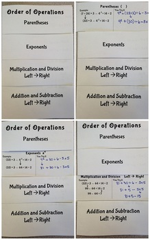 Order of Operations Flip Book
