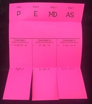Order of Operations (Foldable)