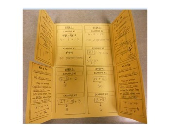 Order of Operations Foldable (Flippable)