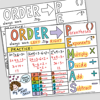 Math Doodles FREE Order Of Operations Foldable PEMDAS