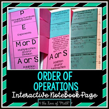 Order of Operations Foldable Page