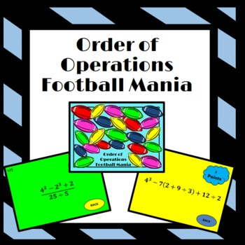 Order of Operations: Football Mania Game