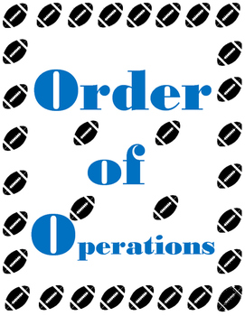Order of Operations Football Style