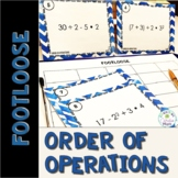 Order of Operations Task Cards - Footloose Math Game