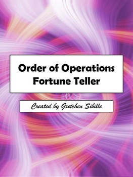 Order of Operations Fortune Teller