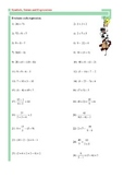 Order of Operations - Fractions - Substitution - Expressions
