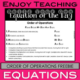 Order of Operations Freebie