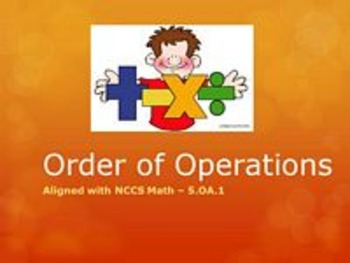 Order of Operations Full Lesson Bundle - 5.OA.1