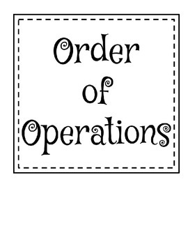 Order of Operations - GEMA Posters