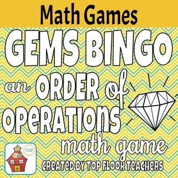 Order of Operations GEMS Bingo Activity