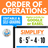 Order of Operations Activity for Google Drive
